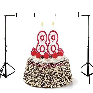 Decoración para el 80 cumpleaños con diseño de telón de ...
