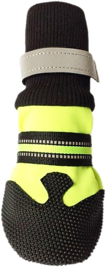 Norbi Pet Dog Cotton Sneakers High Pet Boots Skidproof Waterproof Winter Warm Anti-Slip Dog Shoes