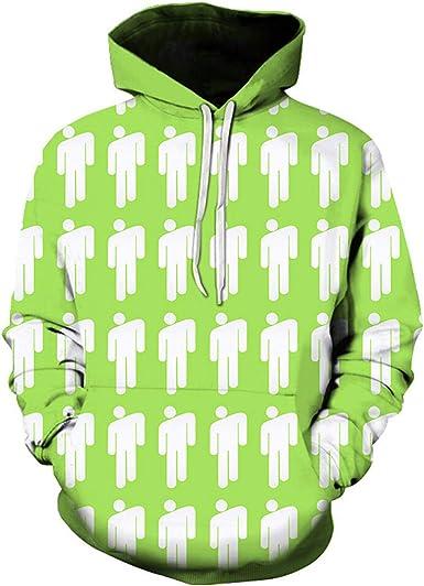Men Women 3D print popular billie eilish Hoodie Casual Sweatshirt Pullovers Tops