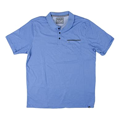 6c512268 Amazon.com: Hurley Men's Dri-Fit Lagos Polo Star Blue Shirt: Clothing
