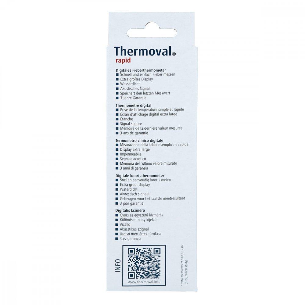 Therm ovalado Rapid Termómetro Digital, 1 pieza: Amazon.es: Salud y cuidado personal