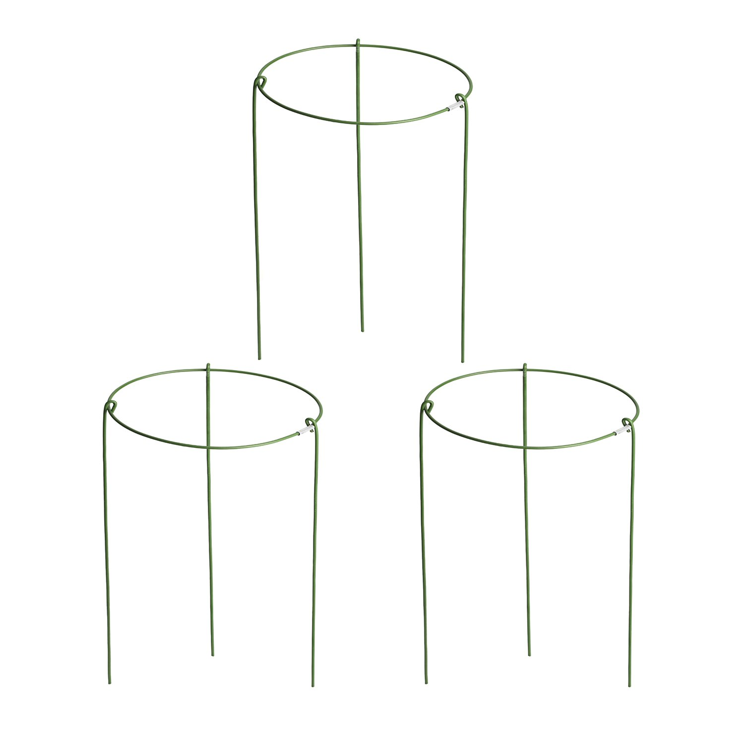 Funseedrr Garden Plant Supports Rings Single Hoop Mini Trellis, 3 pieces