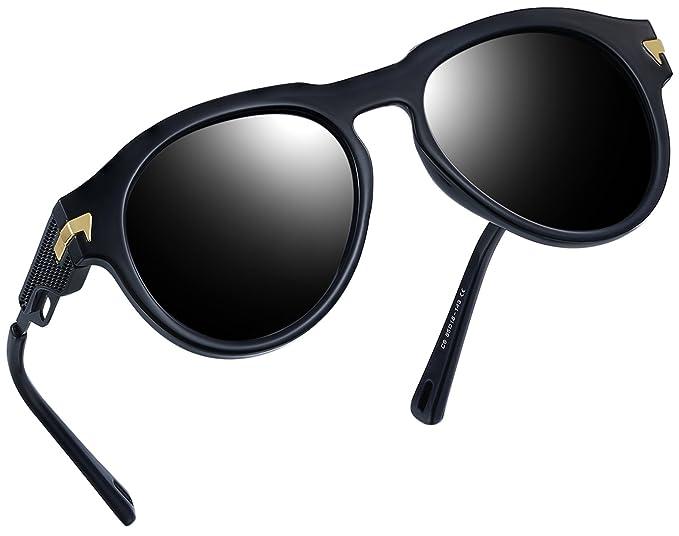 0b0e628b139 Vintage Polarized Sunglasses Women Men Brand Designer UV400 Sun Glasses  (Glossy Black
