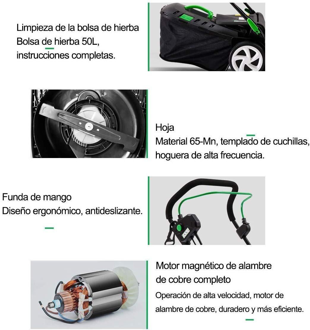 ZAIHW Sin Cable eléctrico autopropulsada Cortador de césped sin la ...