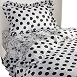 Ethan Allen | Disney  Grand Dotty Duvet Cover, Mickey's Ears (Black), Twin