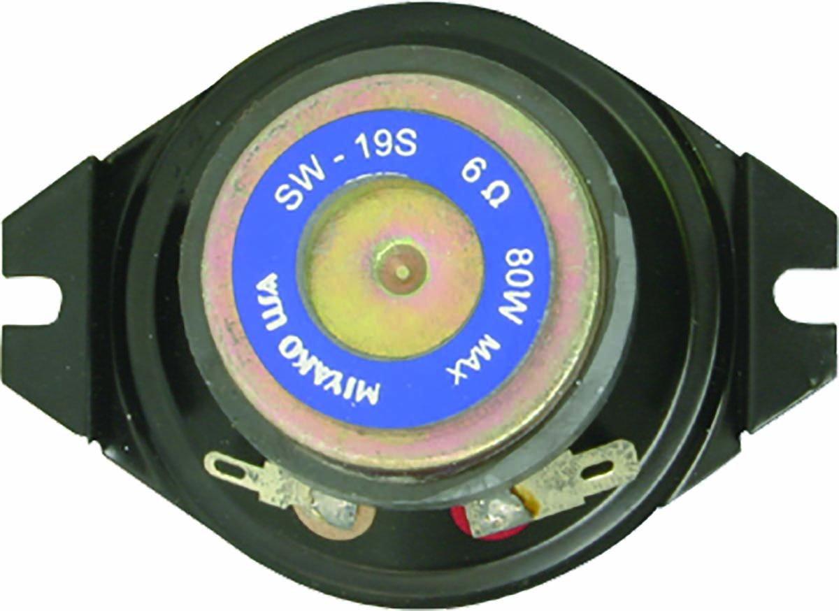 MIYAKO USA 1 Pair SW-19S MIYAKO Classic Car Double Magnet Tweeter 80 Watt 6 ohms Replacement for Bent Oval Basket