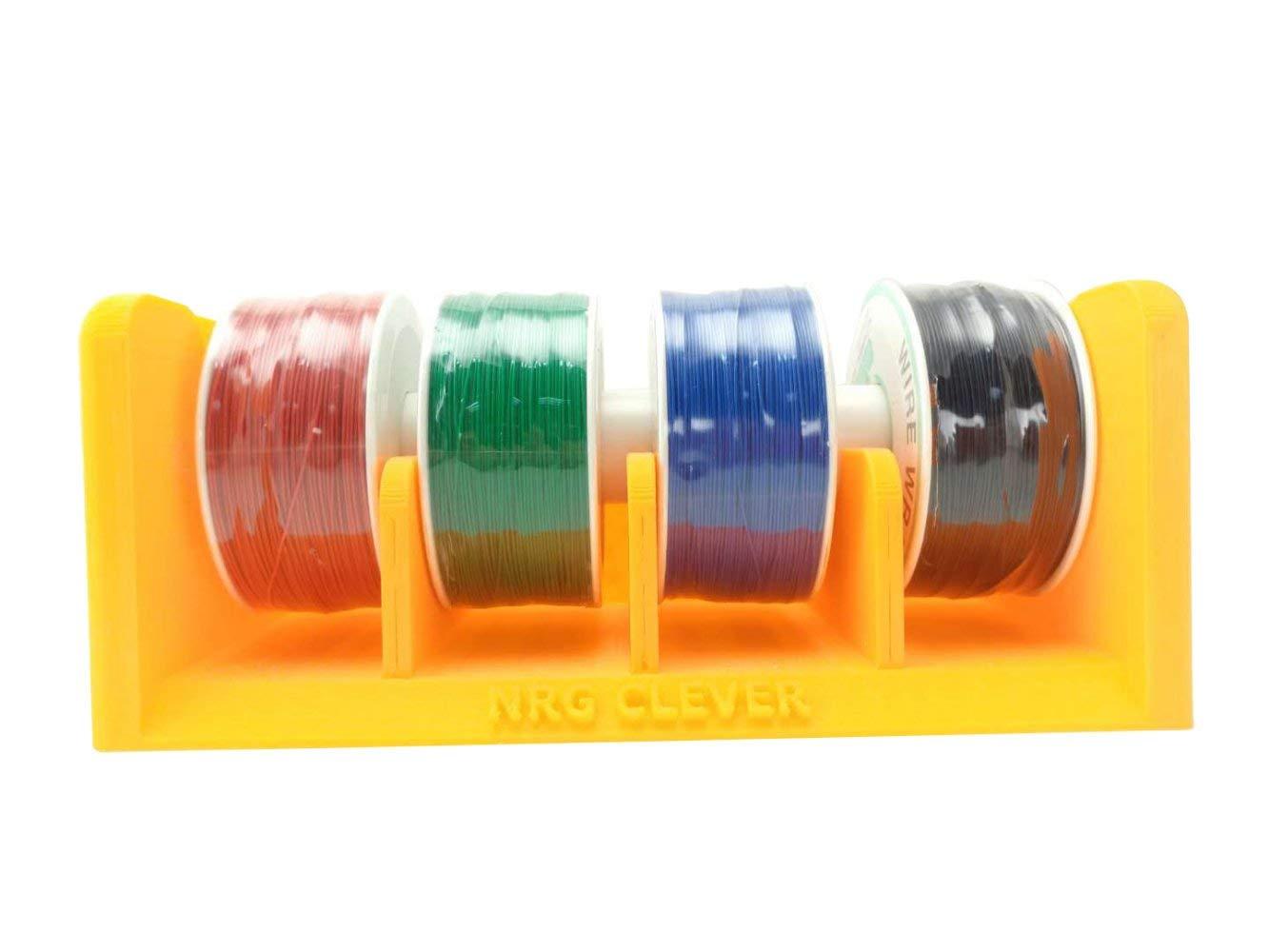 WS4C Cable Eléctrico AWG 30 con Soporte de Mesa, 4 Colores 300 Metros Cada Uno