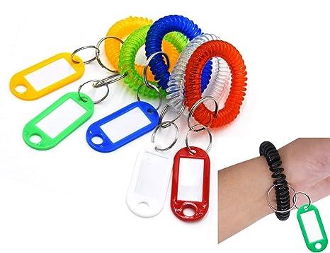 Amazon.com: Llavero de plástico flexible y colorido con ...
