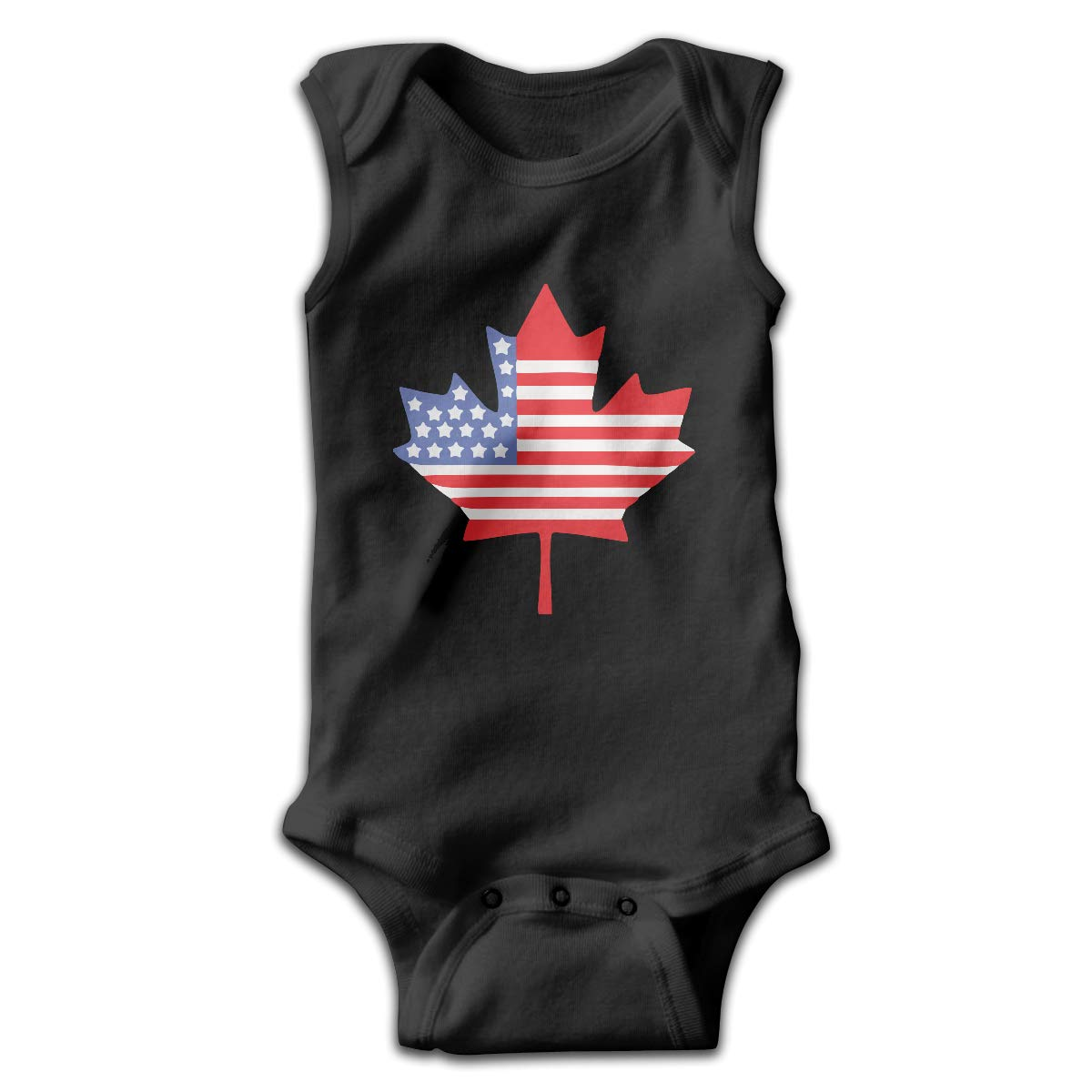 MMSSsJQ6 Canadian American Flag Baby Newborn Crawling Clothes Sleeveless Rompers Romper Jumpsuit