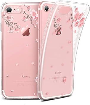 ESR Coque pour iPhone Se 2020, Coque Transparente Silicone Gel TPU Souple avec Motif Dessin Imprimé, Bumper Housse Etui de Protection pour iPhone ...