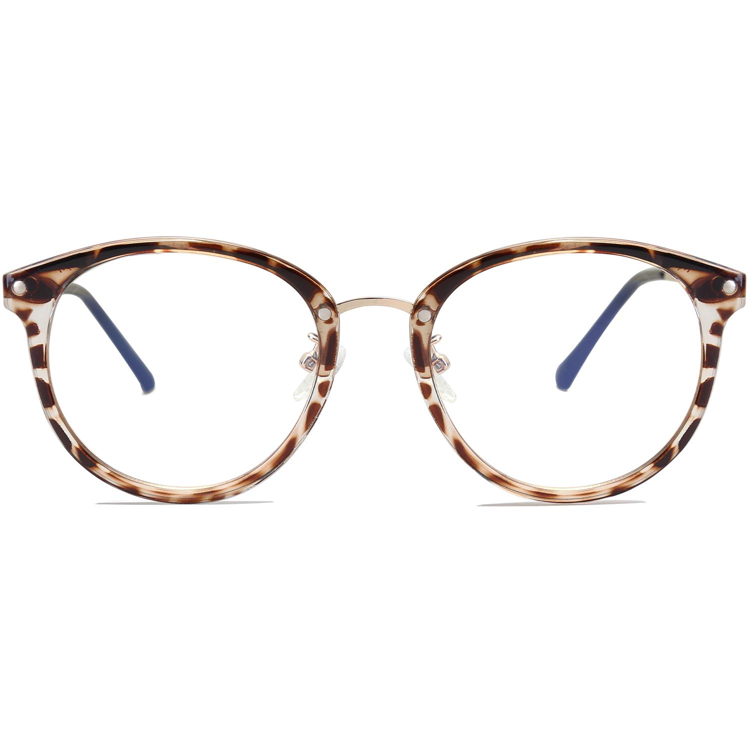 6025e680749d Amazon.com: VANLINKER Clear Lens Eyeglasses Anti Blue Light Computer  Reading Glasses VL9001 C01 Leopard Print Frame/Anti-Blue Light Lens: Health  & Personal ...