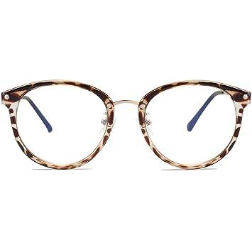 05af6caa3df5 VANLINKER Clear Lens Eyeglasses Anti Blue Light Computer Reading Glasses  VL9001 C01 Leopard Print Frame