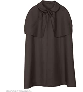 DELUXE DICK TURPIN//Victorian Black Unisex HIGHWAYMAN CLOAK One Size