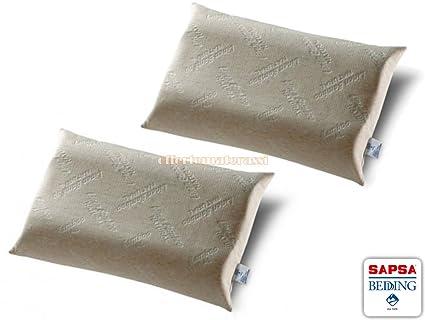 Juego de 2 fundas de almohada 100% látex natural Sapsa Bedding Bioguanciale cervical