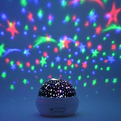 Luz Nocturna Infantil Proyector De Estrellas Luz Colorido Cielo ...