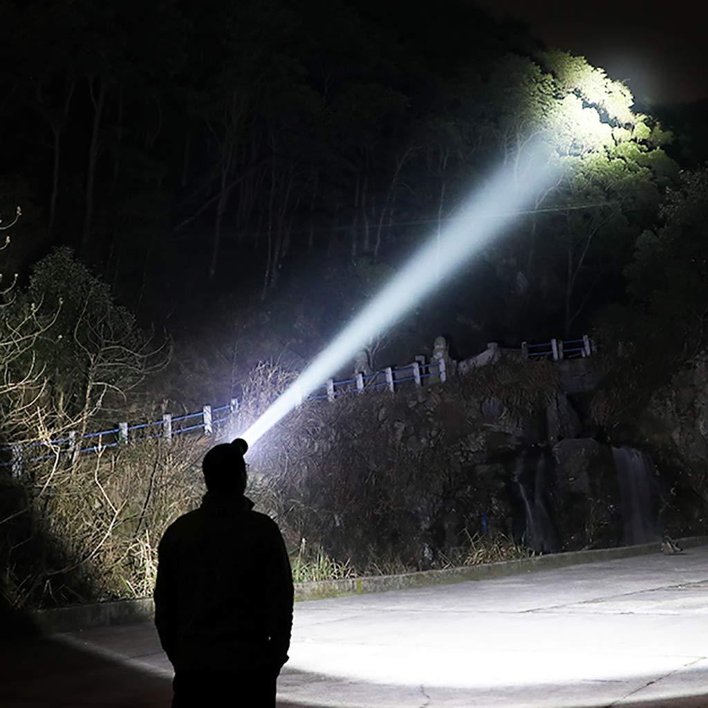 headlight Led Gesto Detectando Detectando Gesto Una Linterna De Cabeza SúPer Brillante, Linterna Linterna LáMpara De Pesca Campamento DoméStico LáMpara De Minero Luz Blanca De 4000w - 6-10 Horas por Vez - Negro 36fb5f
