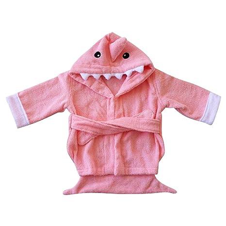 Camisón de la historieta animal para pijamas de franela con capucha bebé niñas niños Homewear Pijama