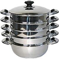 Mantowarka Cuiseur à vapeur bio adapté à l'induction En inox 24, 26, 28, 30 cm