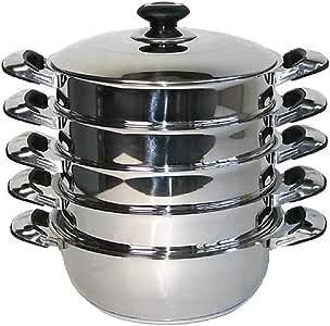 Mantowarka - Juego de cacerolas para cocinas al vapor (inducción, 30 cm): Amazon.es: Hogar