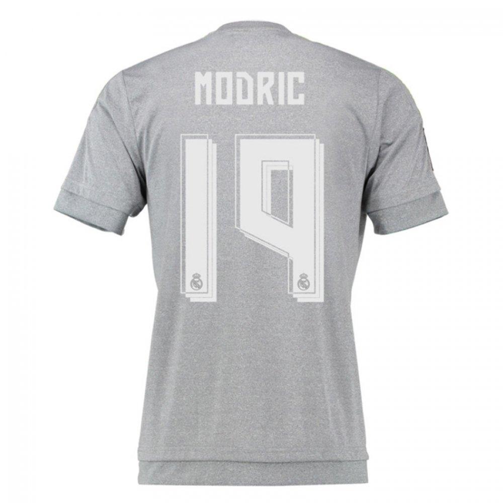 2015-16 Real Madrid Away Shirt (Modric 19) B077VNHLVFGrey XL 44-46\