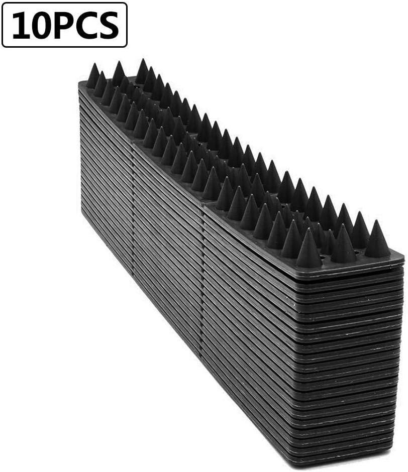 Minear – 10 Piezas de plástico para ahuyentar pájaros, Gatos, Pinchos, Valla de Pared, Pinchos para pájaros, para Evitar Escalada, Seguridad en la Pared