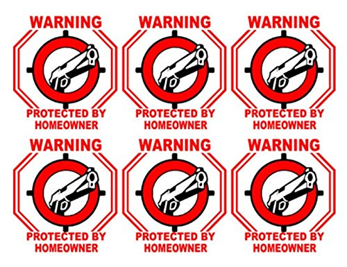 6 Pcs Luxurious Unique Warning Protected By Homeowner Sticker Sign Being Watched Home Decal House Video Hr Surveillance Decals Business Fence Property Yard Signs Outdoor Lawn Size 3 X3