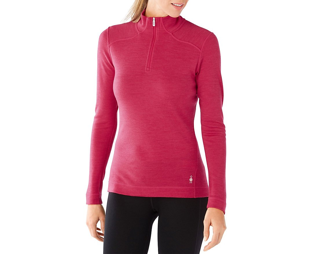 Smartwool Women's NTS Mid 250 ZIP T (Potion Pink Heather) Medium by SmartWool (Image #1)