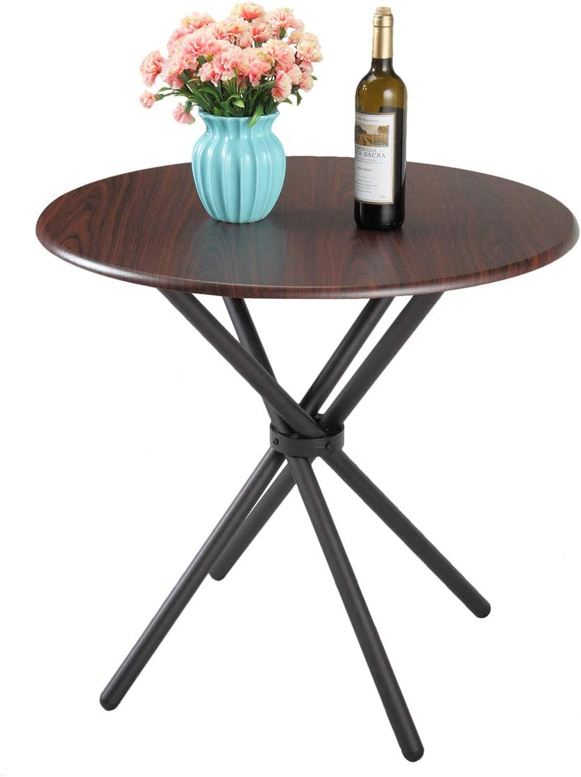 Amazon Com Jaxsunny Kitchen Dining Table Round Dining Table For Cafe Bar Balcony Home Mid Century Vintage Living Room Table 31 5x31 5x29 3 Inches Tables