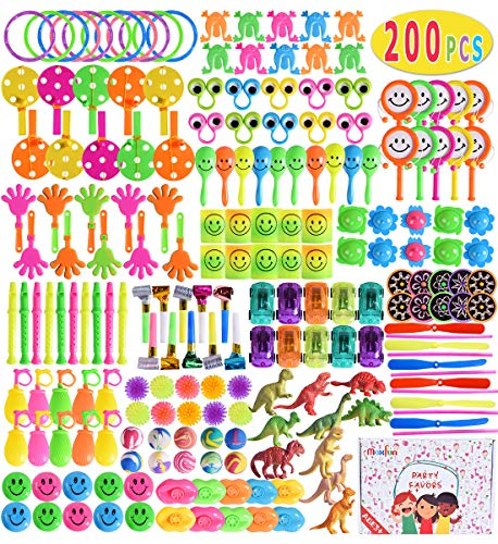 Kids Birthday Party Giveaways (Max Fun 200Pcs Random Color Assortment Toys for Kids Birthday Party Favors Prizes Box Toy Assortment Classroom Rewards,Pinata Filler Toys, Toys Treasure)