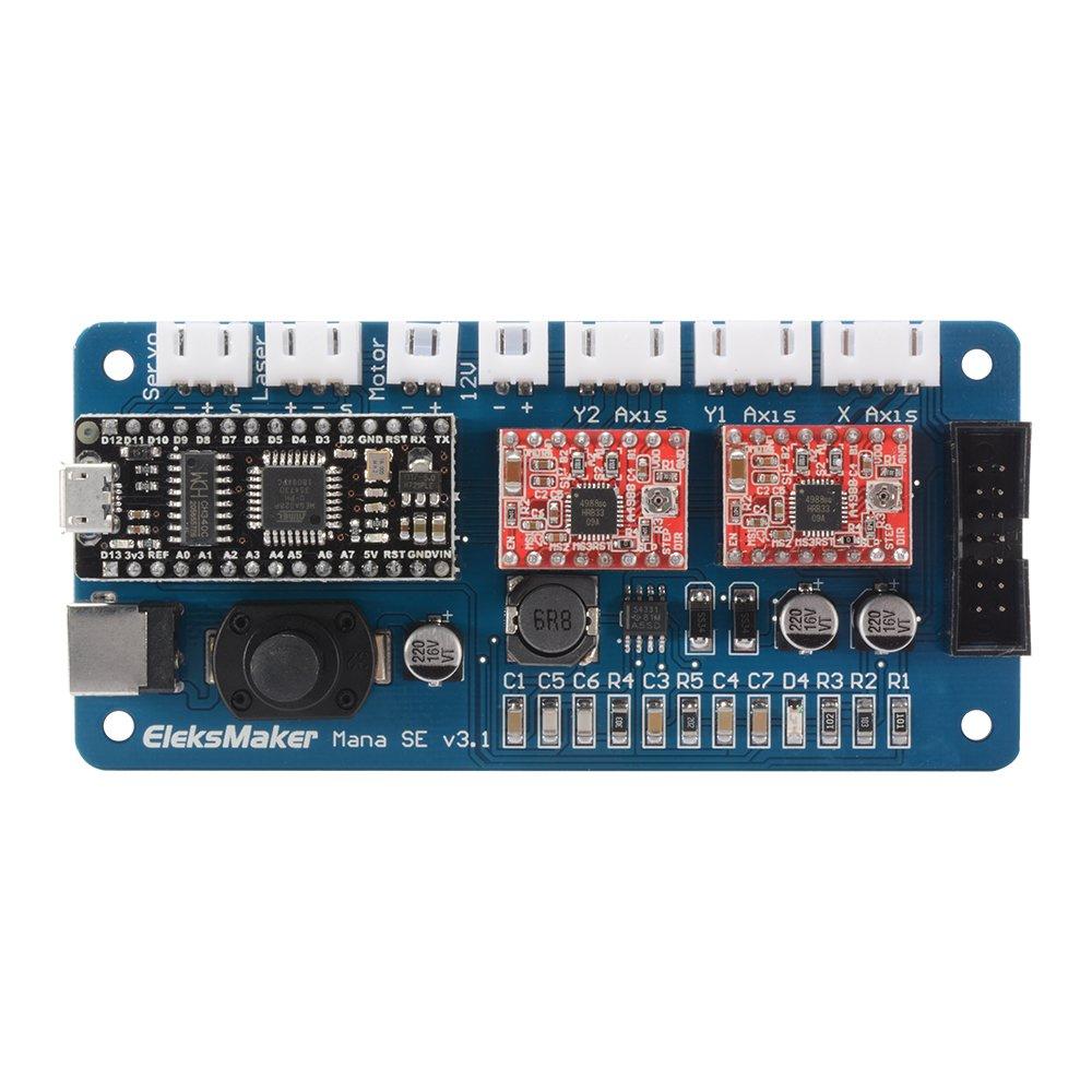 kreema 2 ejes panel Motor Paso Conductor Controller Grbl Board para benbox DIY Laser graviermaschine: Amazon.es: Industria, empresas y ciencia
