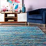 nuLOOM Sabina Stripes Area Rug, 6' x 9', Blue