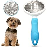 EDUPLINK Dog Brush Cat Brush No Pull Dog Grooming Brushes Dog Hair Brush with Rounded Pin Comfortable Self Cleaning Pet…
