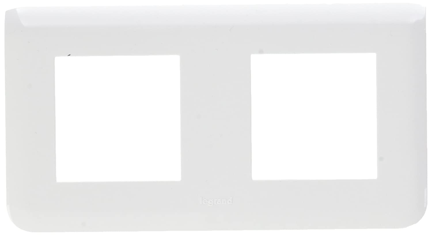 Legrand LEG78804 Plaque programme mosa/ïque 2 x 2 modules horizontal Blanc