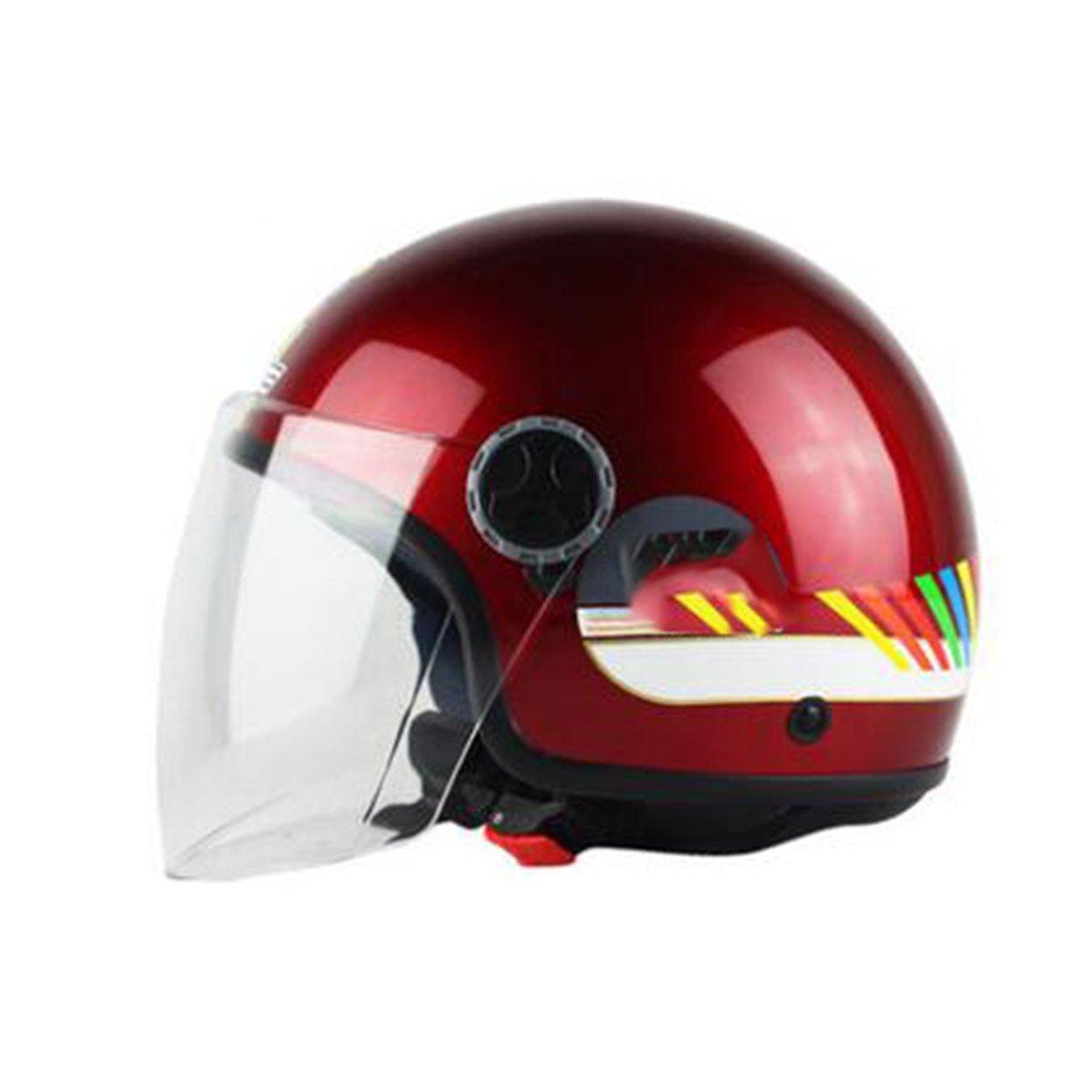TZQ Dame Half Helm Mode Motorrad Batterie Auto Männer Persönlichkeit Cute Wrestling Hut Helm