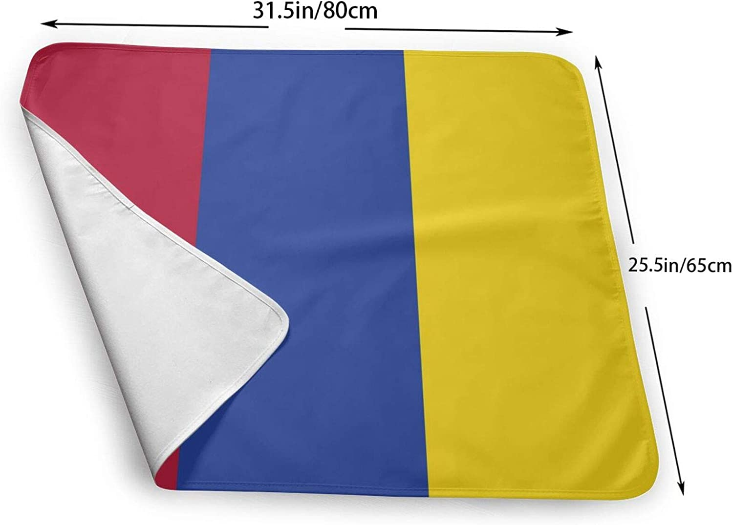 """Multi-Function Storage Bag/—Colombian Flag Baby Portable Changing Pad Large Size Waterproof Diaper Changing Mat for Baby Newborn 25.5/""""X31.5/"""""""