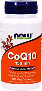 Now Supplements, CoQ10 150 mg, Pharmaceutical Grade, All-Trans Form Produced by Fermentation, 100 Veg Capsules