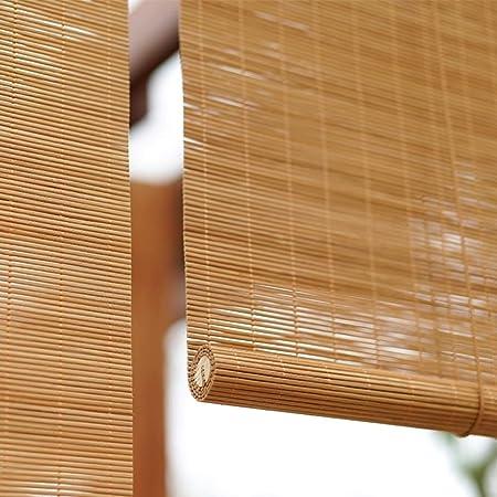 LNDDP Persianas Exteriores enrollables Madera para Ventanas, persianas enrollables bambú para Exteriores para jardín, Patio, pérgola, Porche, balcón, Ancho 80/100/120/140 cm: Amazon.es: Deportes y aire libre