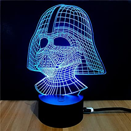 Amazon.com: Star Wars 3D Visual Night Light LED Desk Battery ...