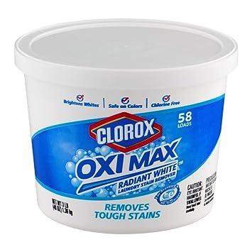 Clorox Oxi Max Radiante White Quitamanchas en polvo para ropa blanca (1,3