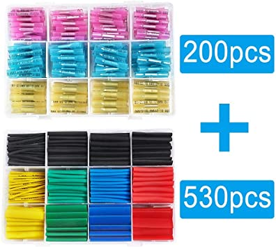 250 xLötverbinder Schrumpfschlauch Stoßverbinder Kabelverbinder Sortiment Set