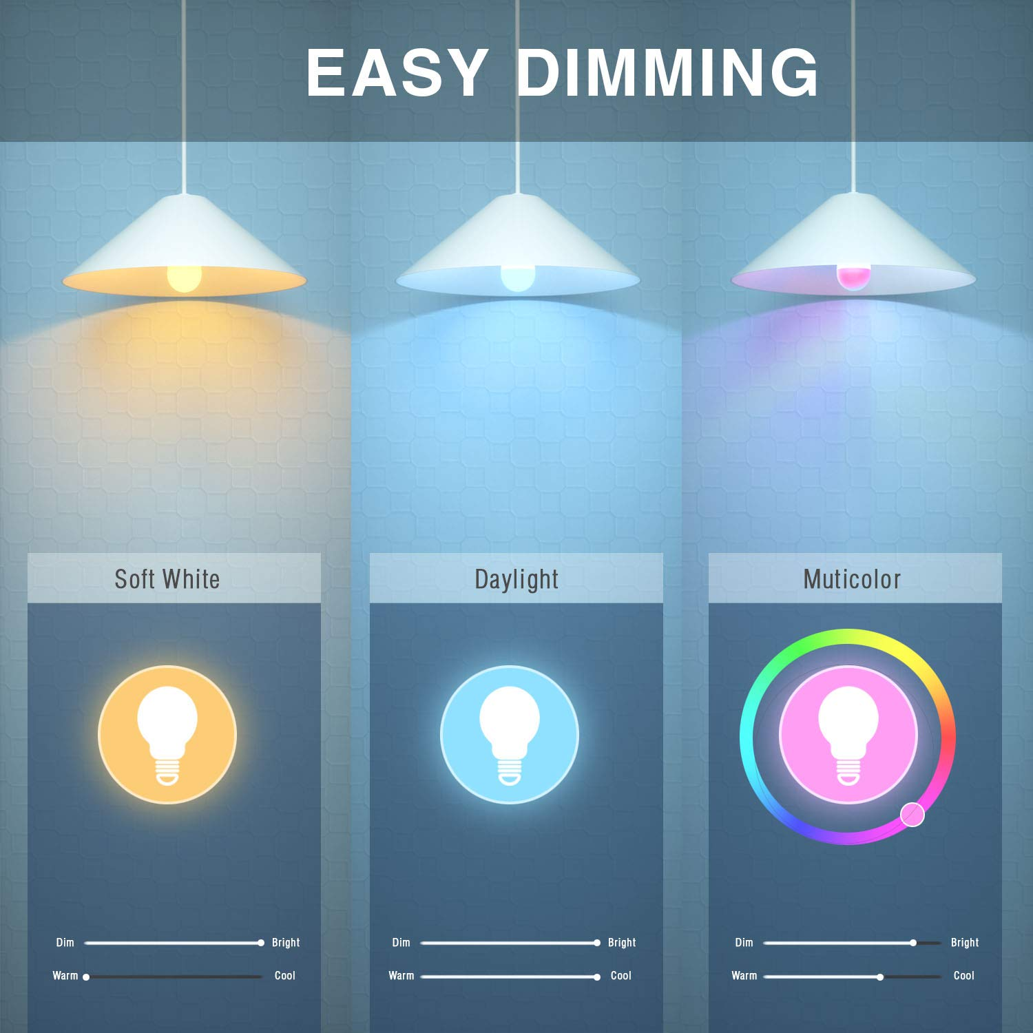 No Hub Required Apple HomeKit Bulb iHaper B1 Smart Light Bulb Support  Alexa Dimmable and Google Assistant 16 Million Colors Only for iOS E26 WiFi LED Light Bulb