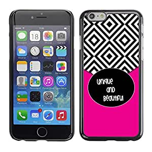 Exotic-Star ( Tiles Black White Beautiful Text ) Fundas Cover Cubre Hard Case Cover para Apple iPhone 6(4.7 inches)