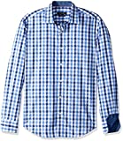 BUGATCHI Men's Cotton Tapered Fit Long Sleeve Shirt, Classic Blue, Small
