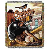 Orioles OFFICIAL Major League Baseball, Home Field Advantage 48x 60 Woven Tapestry Throw