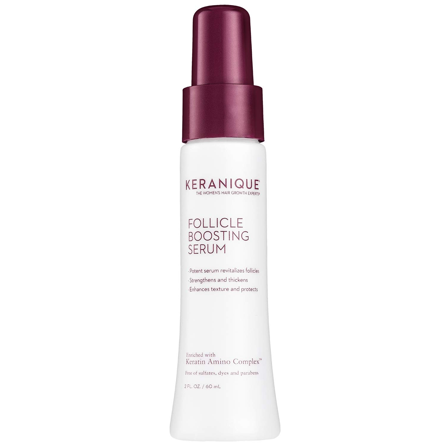 Keranique Follicle Boosting Serum, 2 Fl Oz - Keratin Amino Complex, Sulfate, Dyes And Parabens Free | Stimulates, Nourishes and Supports Scalp Hair Follicle Health | Repairs Existing Damage Hair by Keranique