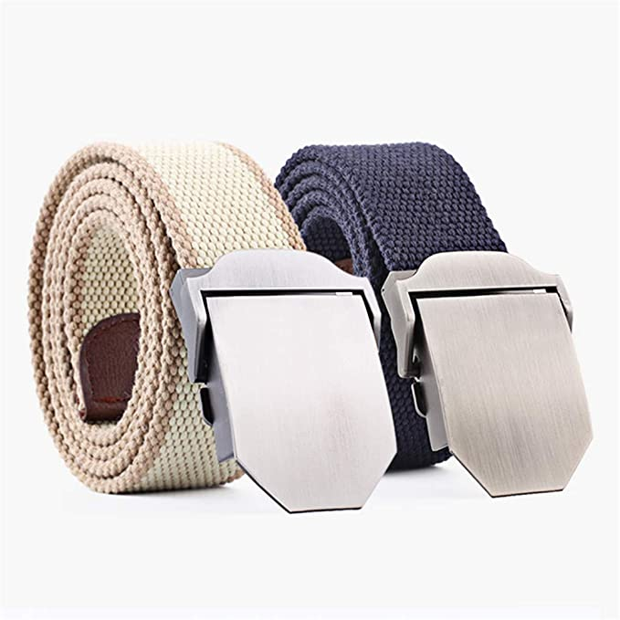 XWDA Automatic Buckling Nylon Canvas Breathable Military Tactical Men Waist Belt