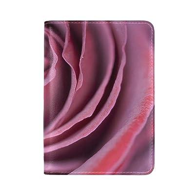 Rose Bud Petals Leather Passport Holder Cover Case Travel One Pocket
