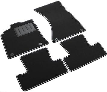 Amazon.es: Il Tappeto Auto SPRINT00208 - Alfombrillas de moqueta negra para coche, antideslizantes, con borde bicolor, embellecedor de goma reforzado, Q 5.