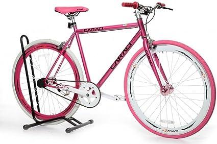 Caraci CBR3AL53BR Aluminum Frame Fixed Gear Bike 53cm Black//Red