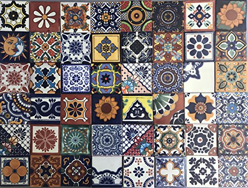 48-mixed-designs-real-ceramic-talavera-mexican-tile-4x4-